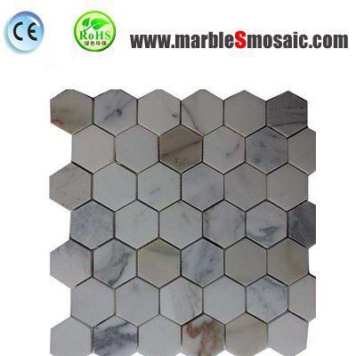 Hexagon Calacatta Gold Marble Mosaic