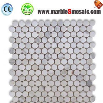 Italien Penny Runde Marmor Mosaik Fliesen