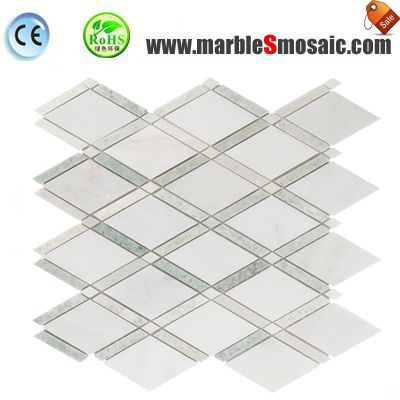 Kitchen Wall Diamond Marble Mosaic