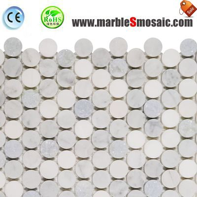 Light Color Penny Round Marble Mosaic