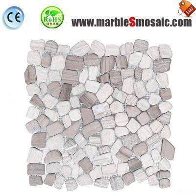 Mosaïque d'aléatoire marbre gris clair