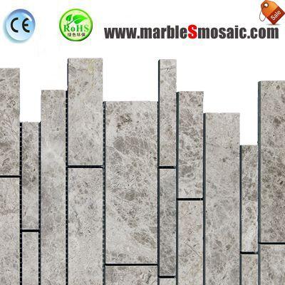 Feuille de mosaïque en marbre gris de lune