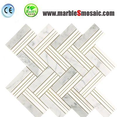 Morden White Marble Mosaic Tile