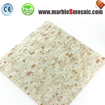 Natural Split Surface Beige Stone Mosaic