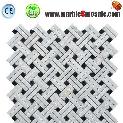 Net Carrara White Marble Mosaic