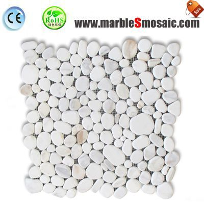 Pebble White Stone Mosaic Sheet