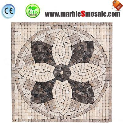 Mosaico de mármol el Jet de agua de pétalos