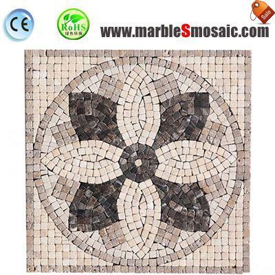 Petal Water Jet de mosaïque de marbre