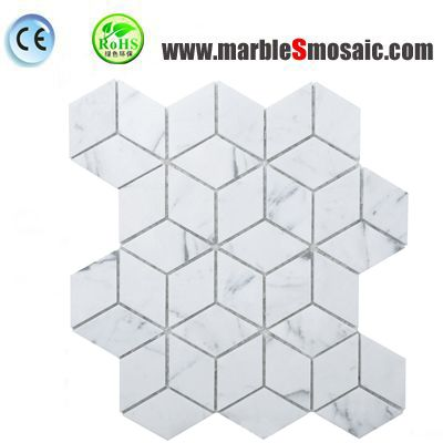 Четырехсторонние мраморная мозаичная плитка