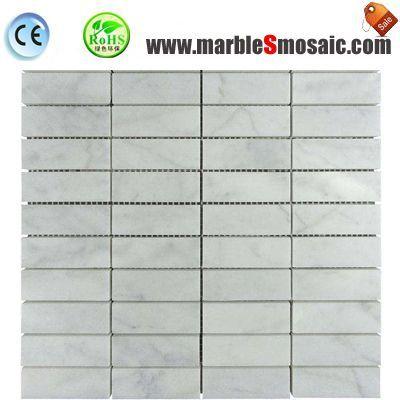 Rectangle Shape Carrara Marble Mosaic