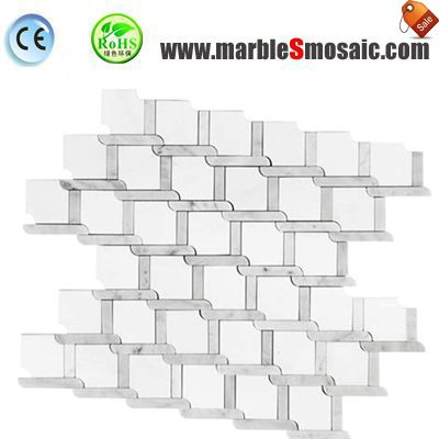 Reticulation White Marble Mosaic