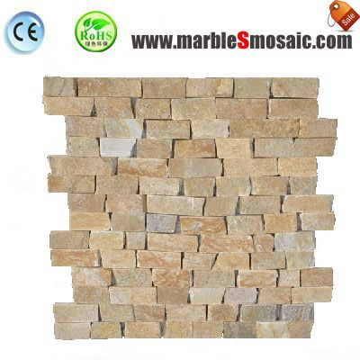 Rust Yellow Quartzite Mosaic Tile