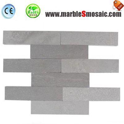 Shay-grauen Streifen-Marmor-Mosaik