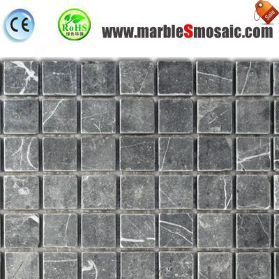 Simple Square Grey Marble Mosaic