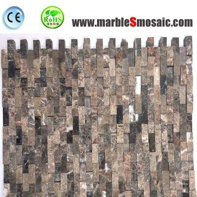 Split Strip Brown Marble Mosaic