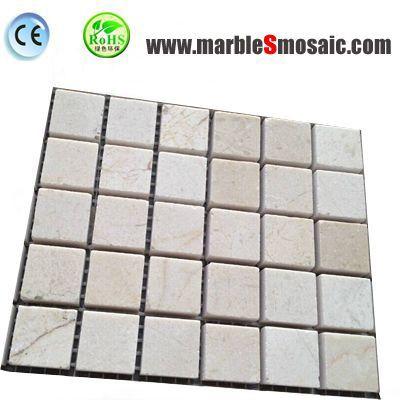 Square Cream Marfil Marble Mosaic