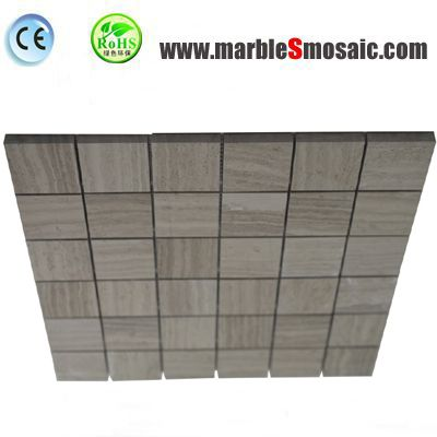 Square Grey Marble Mosaic Floor Tile