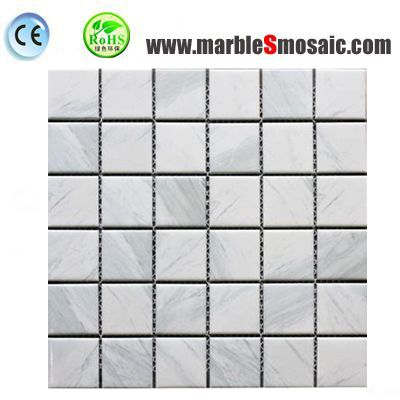 Square White Marble Floor Mosaic