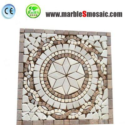 Star Flower Pattern Marble Mosaic