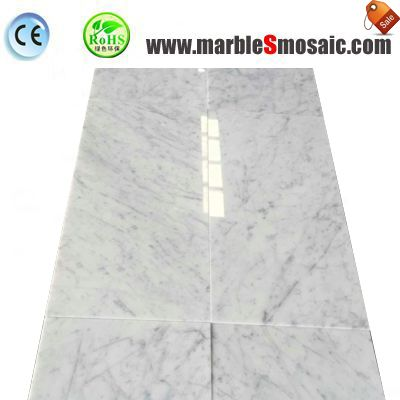 Thin Carrara White Marble Tile