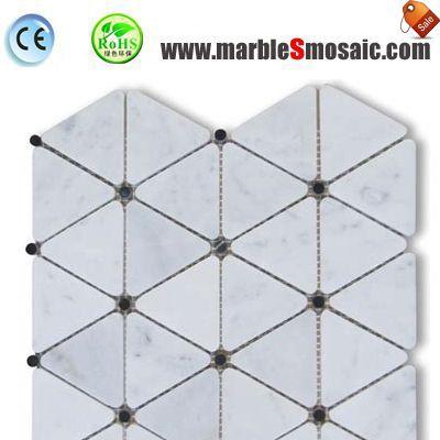 Треугольник алмазные белые мраморные мозаики