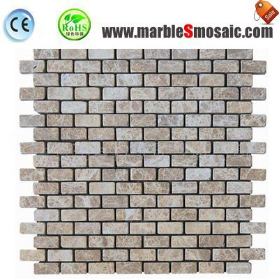 Tumbled Light Emperador Marble Mosaic