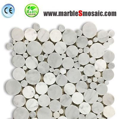 White Bubble Round Wall Mosaic