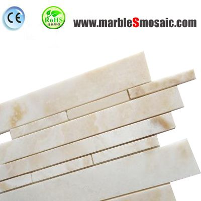 Yellow Onyx Strip Mosaic Tiles