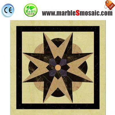 8 Horns Marble Water Jet Mosaic