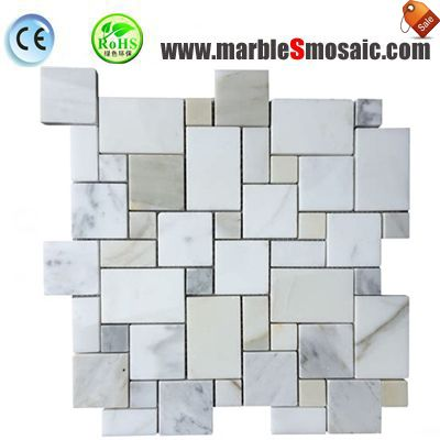 Bathrooms with marble mosaic tiles