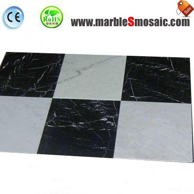 Black White Marble Floor Tile