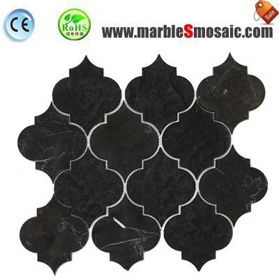 Black Arabesque Marble Mosaic Tile