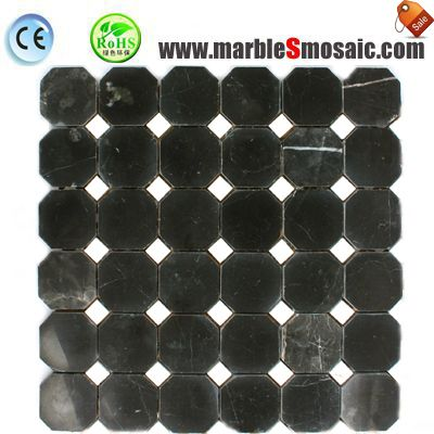 Black Marble Mosaic Bathroom Tiles