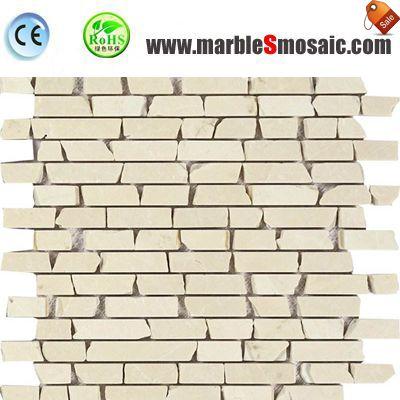 Botticino Beige Marble Strip Mosaic