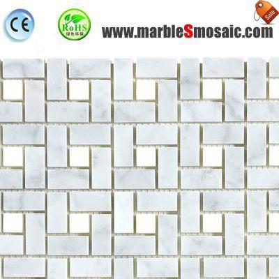 Carrara Marble Mosaic Wall Tile
