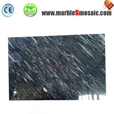 China Snow Black Marble Tiles