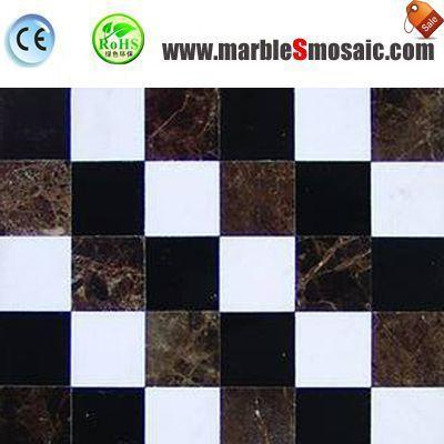 Dark Square Floor Marble Mosaic