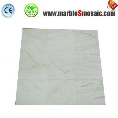 Gold Line White Marble Thin Tile