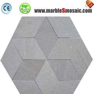 Серый мрамор Мозаика напольная плитка
