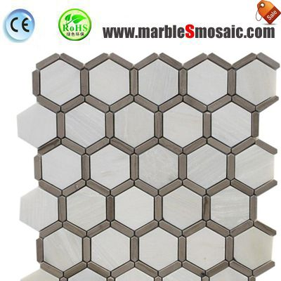 Hexagon Bathroom Indoor Marble Mosaic