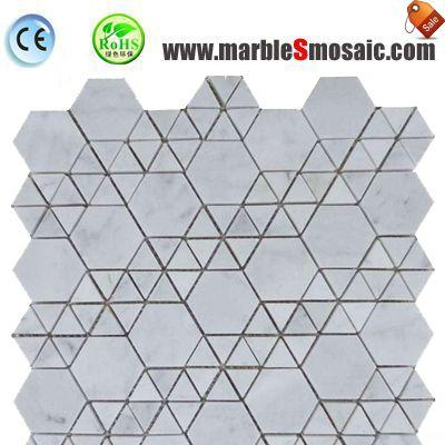 Hexagon Wall Marble Stone Mosaic