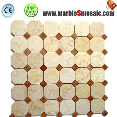 Octagon Egypt Yellow Marble Mosaic