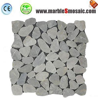 Pebble Shape Grey Marble Mosaic