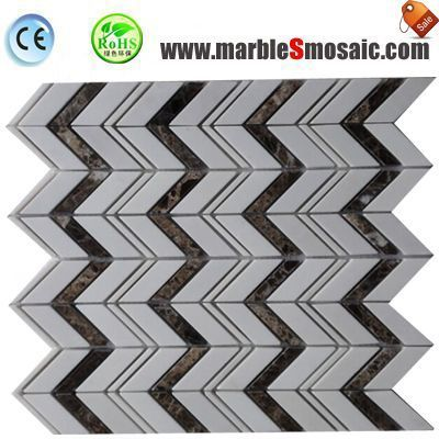 Polished Chevron Wall Marble Mosaic