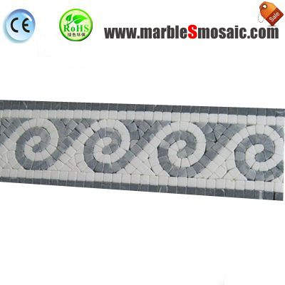 Sea Weave Marble Mosaic Border Tile