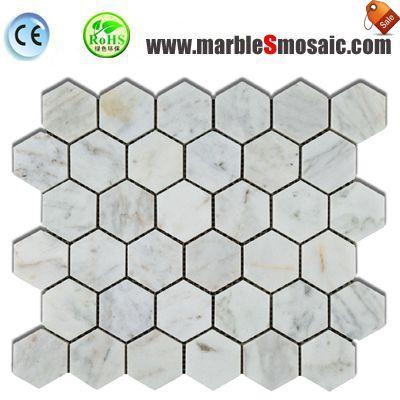 White Marble Mosaic Hexagon Tile