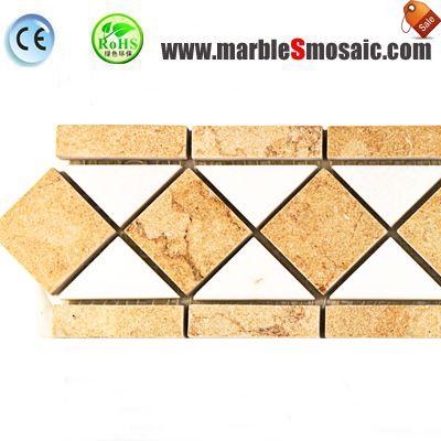 Yellow Marble Border Tile