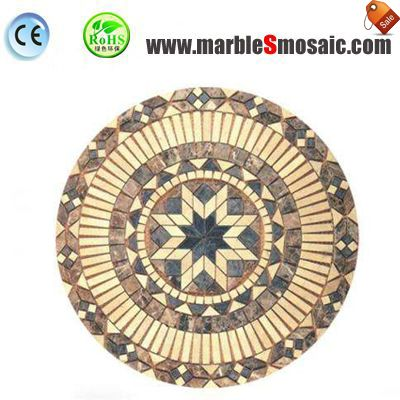 Yellow Star Water Jet Marble Mosaic