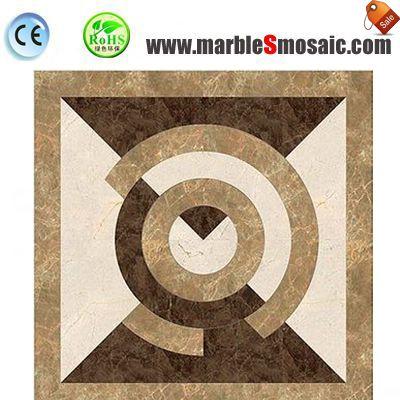 Beige Marble Mosaic Floor Medallion