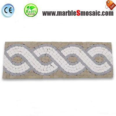 Azulejo mosaico de mármol frontera salpicadero